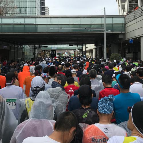 さいたま国際マラソンスタート前