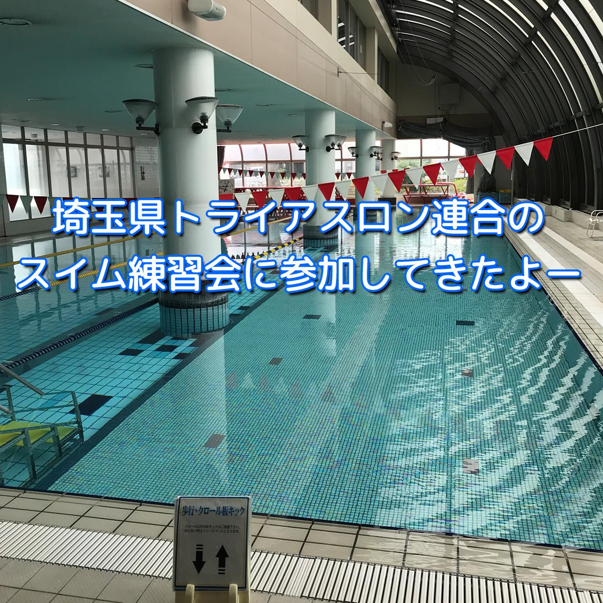 埼玉県トライアスロン連合のスイム練習会に参加してきましたー。