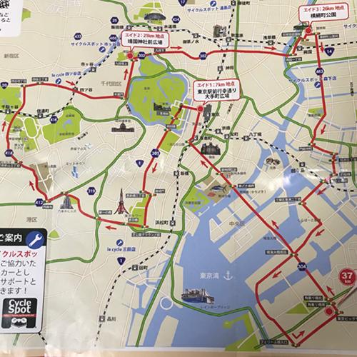 東京の観光地を回るサイクリングイベント