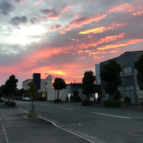 夕焼けがきれいだった